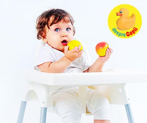 Introducerea fructelor in alimentatia bebelusului: ghid practic pe luni