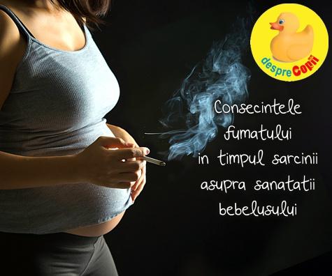 7 consecinte ale fumatului in timpul sarcinii