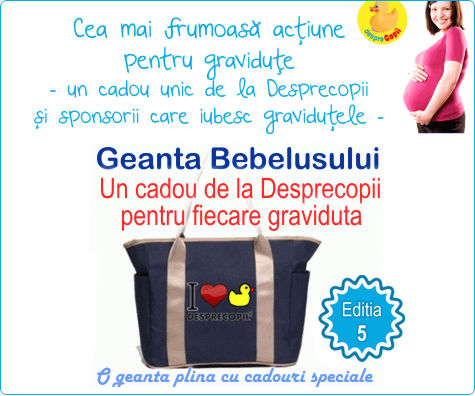 Geanta Bebelusului, un cadou pentru proaspetele mamici de la Desprecopii