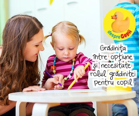 Gradinita intre optiune si necesitate: rolul gradinitei pentru copil si ce astepta parintii de la o gradinita