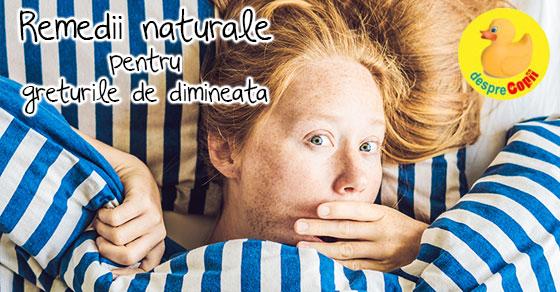 Remedii naturale pentru greturile de dimineata din timpul sarcinii width=