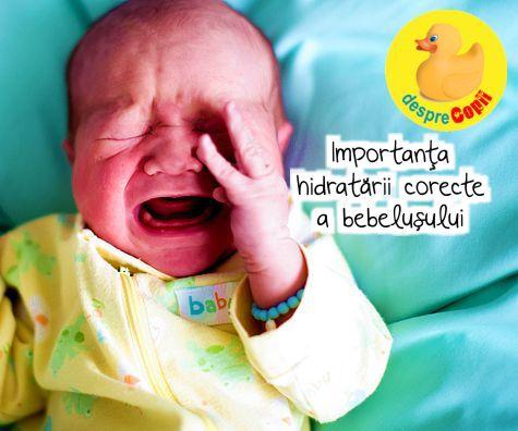 Importanta hidratarii corecte a bebelusului