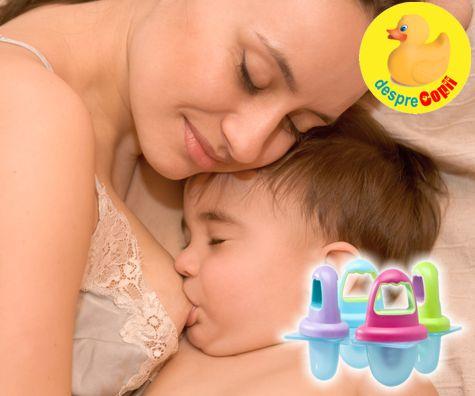 Inghetata din lapte de mama: o solutie eficienta de calmare a gingiilor bebelusului