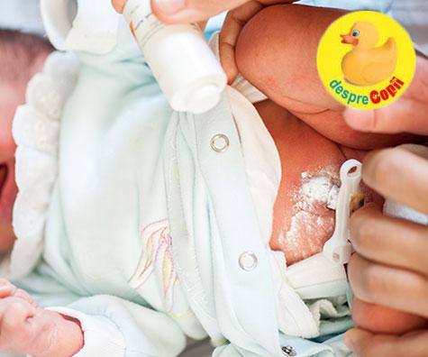 Prima din fricile unei mamici: Ingrijirea buricului bebelusului