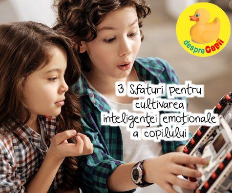 Inteligenta emotionala a copilului: 3 sfaturi pentru parinti