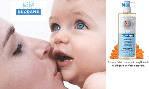 Klorane Bébé, cat mai aproape posibil de pielea bebelusului