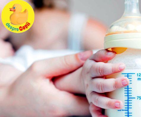 Hranirea bebelusului cu lapte formula: despre costuri, timp si intoleranta