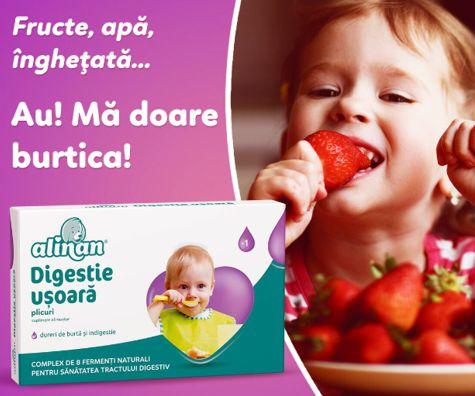 Au mami, ma doare burtica: cum putem imbunatati digestia copilului