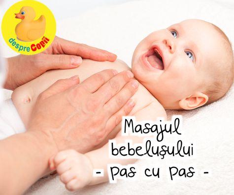 Masajul bebelusului pas cu pas si video explicativ