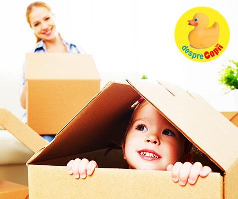 Cum iti ajuti copilul sa se adapteze mutarii in casa noua