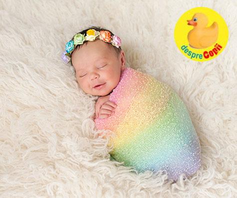 Cele mai frumoase nume pentru bebelusii curcubeu