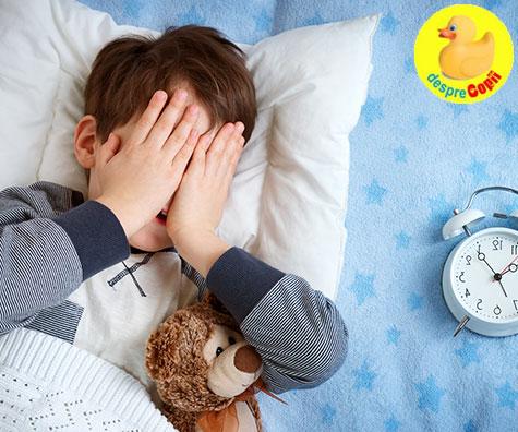 De ce este atat de importanta ora de culcare a copiilor