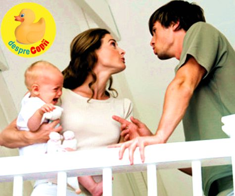 De ce se cearta parintii unui bebelus si de ce dusul gunoiului poate deveni motiv de divort
