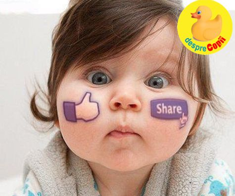 Pozele bebelusului pe Facebook – o alegere inteleapta?