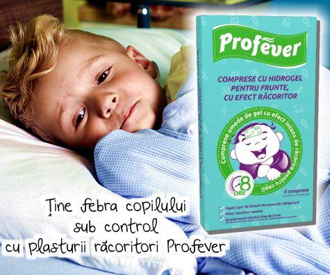 Tine febra copilului sub control cu plasturii racoritori PROFEVER