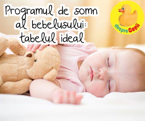 Programul de somn al bebelusului: tabelul ideal