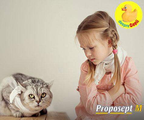 Cum putem face fata durerilor in gat ale copiilor, cu un produs din extracte naturale