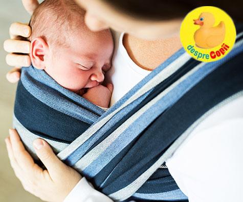 Babywearing-ul sau purtarea bebelusului: 5 lucruri pe care nu le stiai