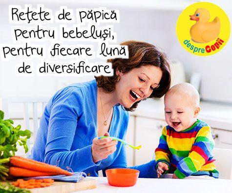 Retete de papica pentru bebelusi, pentru fiecare luna de diversificare