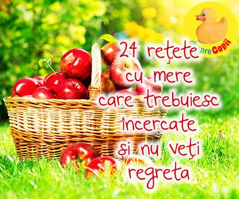 Marul, regele toamnei romanesti: 24 retete cu mere care trebuiesc incercate si nu veti regreta