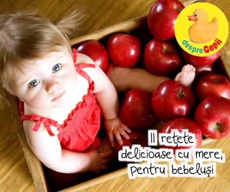 11 retete cu mere pentru bebelusi - delicioase si nutritive