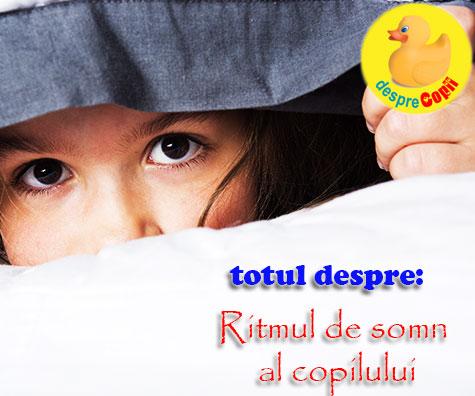 Ritmul de somn al copilului: despre necesitatea de a dormi, bioritm si anotimpuri