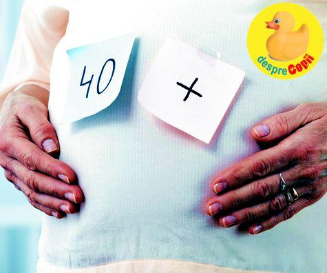Sarcina intre 40-50 de ani: riscuri dar si vesti bune