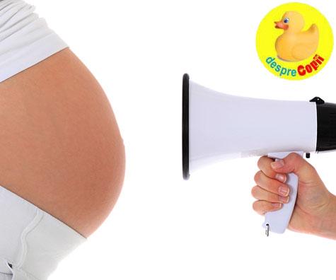 Zgomotele mari in timpul sarcinii: pot acestea afecta bebelusul?