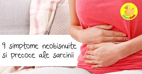 9 simptome precoce si chiar neobisnuite ale sarcinii width=