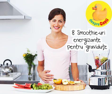 8 Smoothie-uri energizante pentru gravidute