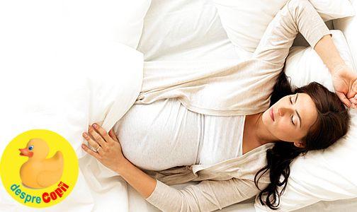 De ce somnul este important in timpul sarcinii width=