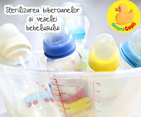 Sterilizarea biberoanelor si veselei bebelusului