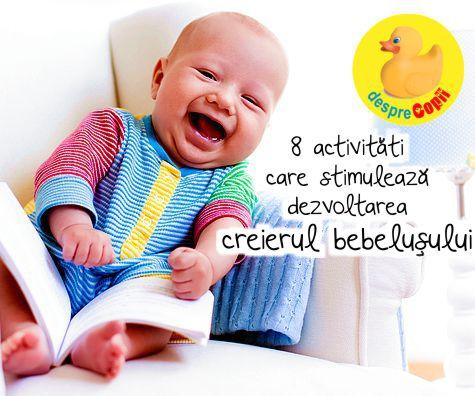 8 activitati care stimuleaza dezvoltarea creierul bebelusului