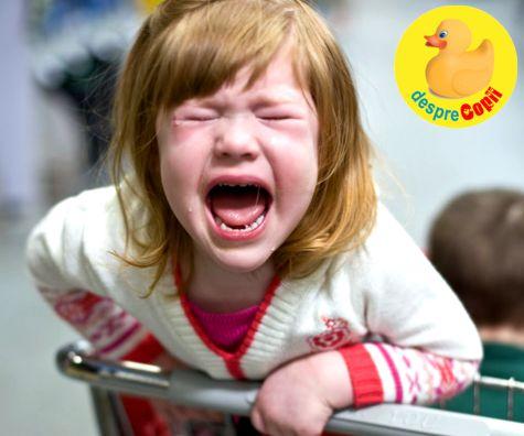 Tantrumul copilului sau plansul programat: cum le prevenim eficient