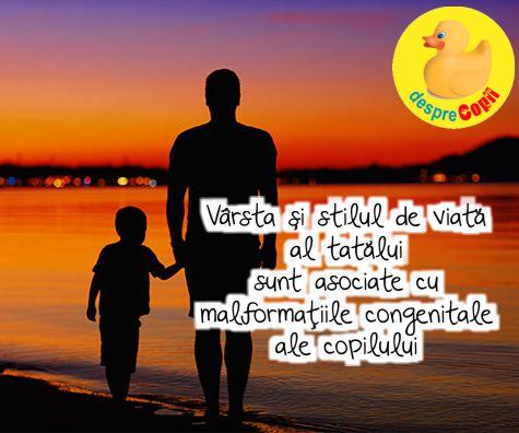 Varsta si stilul de viata al tatalui sunt asociate cu malformatiile congenitale ale copilului