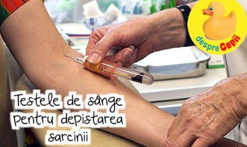 Testele de sange pentru depistarea sarcinii: tot ce trebuie sa stii width=