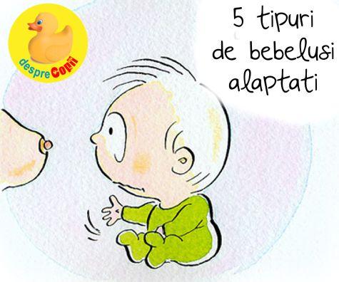 5 tipuri de bebelusi alaptati la san