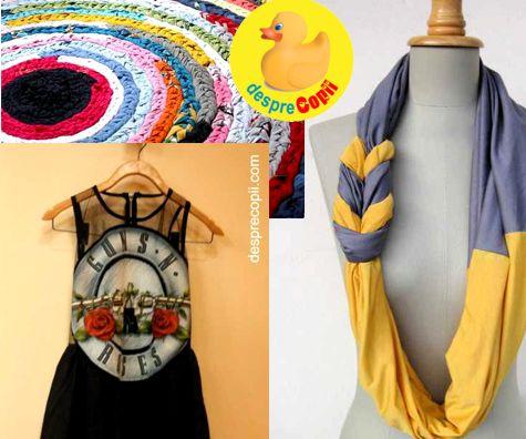 12 lucruri frumoase si utile pe care le poti face din tricouri vechi
