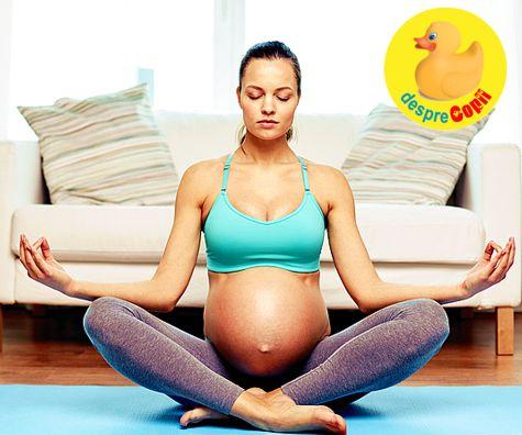 5 pozitii de yoga recomandate in timpul sarcinii