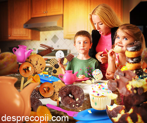 Excesul de zahar si alimente prajite duce la aparitia deficientelor imunitare respiratorii si digestive