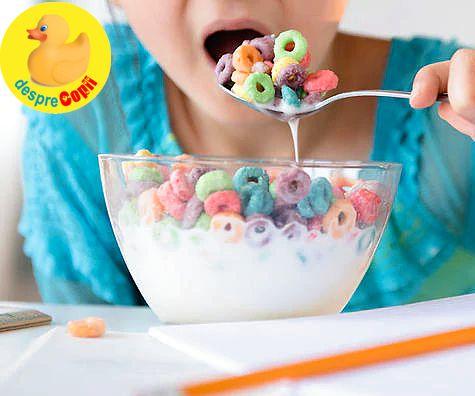 Zaharul in alimentatia copilului - o otrava pura deghizata in multe alimente